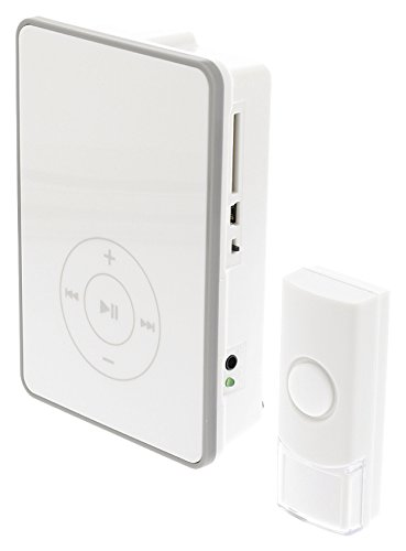 Preisvergleich Produktbild Eurosell - MP3 Wireless Türklingel mit SD-Kartensteckplatz für eigene Melodien - Funk Klingel