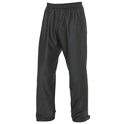 Fladen - Giacca impermeabile con strisce riflettenti o pantaloni da pioggia, taglie da S a XXL, antistrappo e impermeabile, fodera in maglia, 100% PU (pantaloni da pioggia, M)