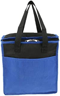 FidgetGear Lunch Box Bag Tote Insulated Food Cooler Outdoor Camping Picnic Beach Travel Blue One Size