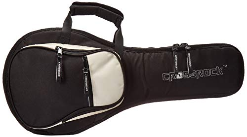 Crossrock A-Style Mandolin Gig Bag with 10mm Padding, Backpack Straps, Black/Red (CRSG106MABR)