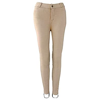 One Stop Equine Shop Children's Lily Lowrise Pull-on Jodhpurs Euro Seat and Knee Patch Horseback Riding Pants Tan 14 from One Stop Equine Shop