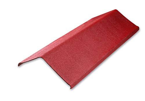 Firsthaube Ortgang Dachabschluß Onduline Bitumenwellplatten Abschlußprofil - intensiv rot