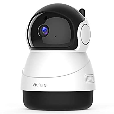 Victure 1080P Wi-Fi Camera, Baby Monitor with Camera, 2.4GHz Home Security Camera, Motion Tracking, Montion and Sound Detection, Works with Alexa-White