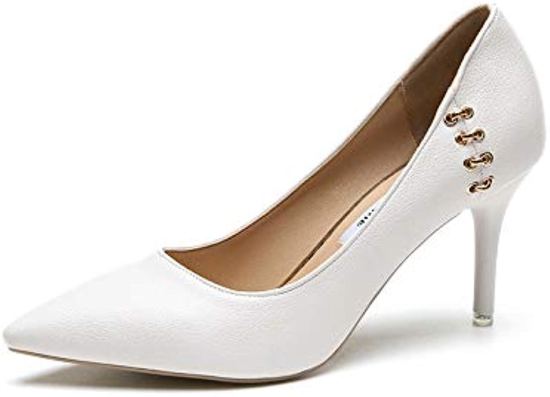 HOESCZS Frauen Schuhe Fein Hohe Hohe Ferse EIN Pedal Damen Einzelne Schuhe Bohemian Spitzen Flach Mund Frauen Schuhe  billig
