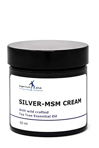 La crema Plata-MSM con aceites esenciales del árbol del t