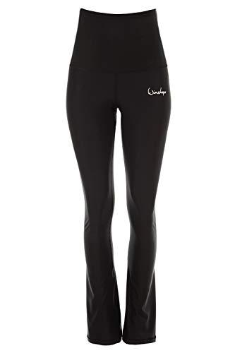 WINSHAPE Damen Functional Boot Cut Leggings High Waist BCHWL102, schwarz, Slim Style, Fitness Freizeit Sport Yoga Workout, XL