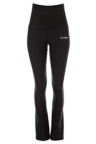 Winshape dames functionele boot cut leggings High Waist Bchwl102, zwart, slim stijl, fitness vrije tijd sport yoga workout