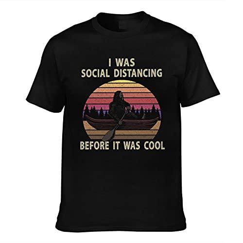 mengmeng I was Social Distancing Before It was Cool 3 Camisetas de manga corta vintage con gráficos para hombre