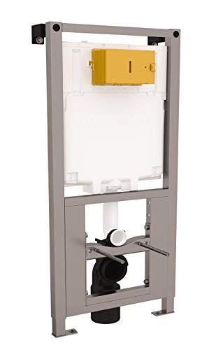 Calmwaters® - Vorwandelement für Trockenbau inklusive Unterputz-Spülkasten mit 2-Mengen-Spülung für Wand-WCs - 36AD3160