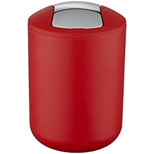 Customer reviews WK Brasilia Table Top Kitchen Waste/Cosmetics Small Bin (Red)