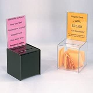 My Charity Boxes - 2 Pack - Mini Ballot Box - Ticket Box - Coin Collector - Tip Container - with 5x7 Sign Frame, for Count...
