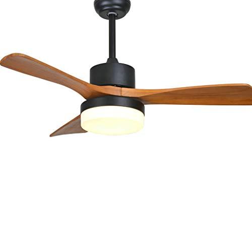 Duoer Home Led-plafondventilatoren voor woonkamer, 220 V, houten plafondventilatoren met lichten, 42 inch vleugels, ventilatoren op afstand