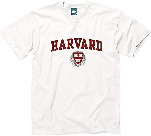 Ivysport Harvard University Short-Sleeve T-Shirt Crest, White, Small