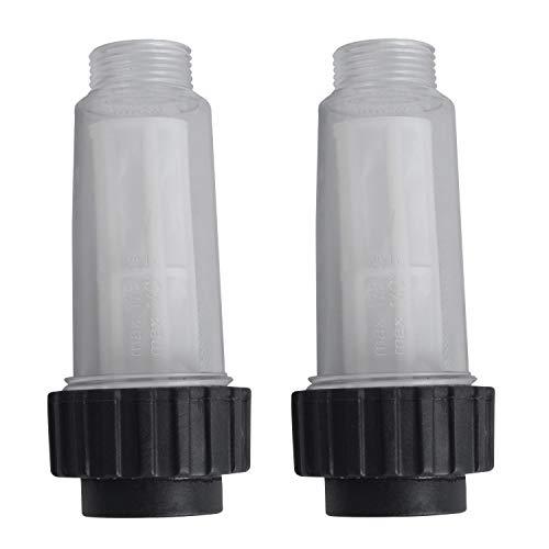 Poweka Wasserfilter für kärcher Hochdruckreiniger Serien K2 K3 K4 K5 K6 K7 ¾ Zoll 4.730-059.0 2 Stück