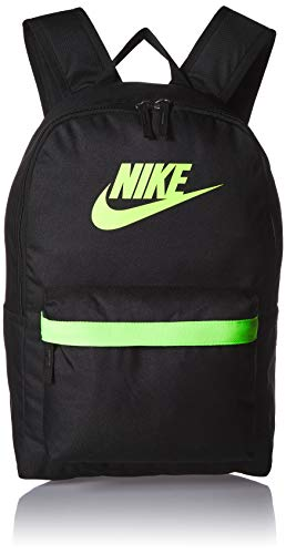Nike Unisex Heritage Rucksack 2.0, Unisex-Erwachsene, Tasche, Heritage Backpack - 2.0, Schwarz/Schwarz/Electric Green, Misc