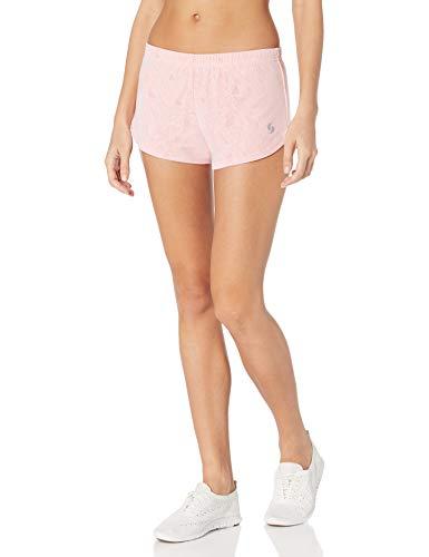 Soffe Women's Lace Mesh Kicking it Short, Strawberry Pink, Small