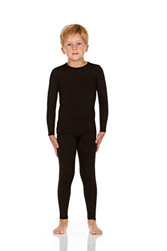 blue X-Small Rocky Thermal Underwear for Boys Fleece Lined Thermals Kids Base Layer Long John Set
