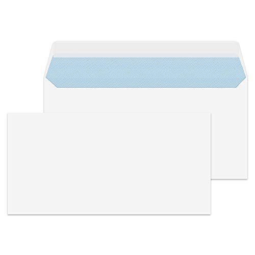Purely Everyday - Sobre DL (500 unidades, 110 x 220 mm, 100 g/m², cierre autoadhesivo), color blanco 🔥