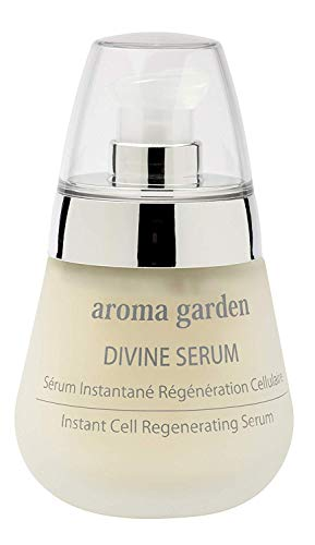 Divine Serum aroma garden- Cell Regenerating Face Serum made of 15 essential oils, vitamin C & hyaluronic acid for suppleness, elasticity & glow - 100% natural & vegan care 50 ml