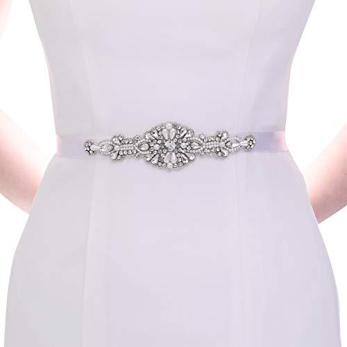 TOPQUEEN Faja de perlas pequeñas para mujer, para boda, con brillantes Rojo...
