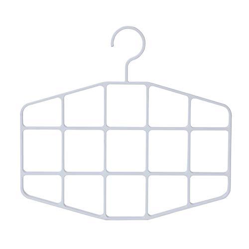 1 Uds Perchero de múltiples Puertos Estante de Secado de plástico Estante de Ropa Estante Multifuncional para el hogar Estante de plástico para Bufanda Blanca - t2, c