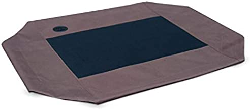 K&H Pet Products Original Pet Cot Replacement Cover (Cot Sold Separately) - Chocolate/Black Mesh, Large 30 X 42 Inches