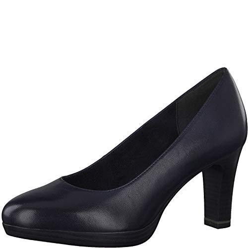 Tamaris Damen Pumps, Frauen Klassische Pumps, businessschuh Office-Schuh büro-Pump elegant bequem weiblich Lady Ladies Women's,Navy,38 EU / 5 UK