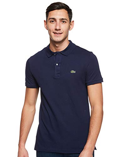 Lacoste Herren Polo T-shirt Ph4012, Blau (Marine), Medium (Herstellergröße: 4)