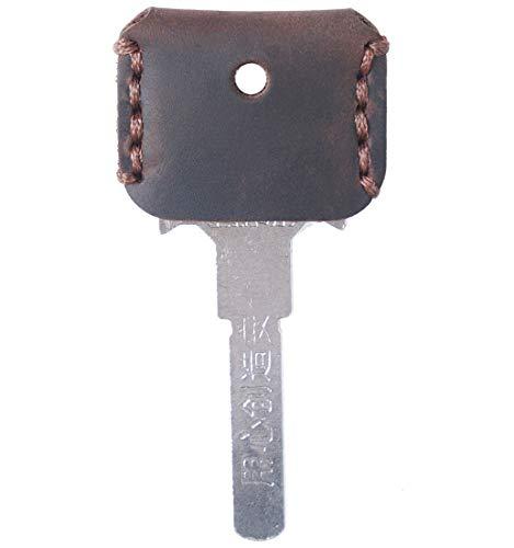 [FREESE] キーカバー 本革 キーケース 【味わい深い皮生地】 キーキャップ アンティーク レザー 鍵 収納 ケース メンズ(コーヒー)