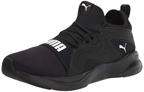 PUMA Men's SOFTRIDE RIFT Breeze Running Shoe, Black White, 10.5