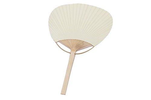 DISOK - PAI PAI Bambú Marfil - PAI Pais Baratos Bambú Kraft para Bodas, Ceremonias. Abanicos Parasoles de Madera para Bodas