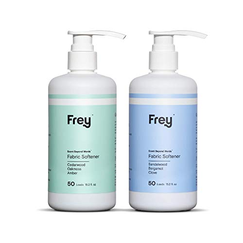 FREY Natural Liquid Fabric Softener - 2 Pack, Fabric Conditioner Keeps Clothing Looking, Feeling and Smelling Better (Bold & Sweet Fragrance)