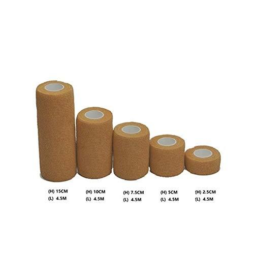 LOOEST Haute qualité 6 Pack Auto-adhésif Bandage Wrap Ruban imperméable et Respirante élastique cohésive Bande Santé Care Therapy pour Poignet, Cheville (Color : Skin, Size : Width 10cm)