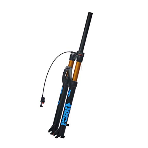 lxxiulirzeu 2019 New Bicycle Air Fork 26/27.5 /29er MTB Mountain Bike Suspension Air Resilience Bike Fork 120mm Traver Axle 9 * 100mm (Color : Blue)