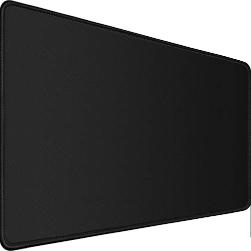 Gaming Mouse Pad,Upgrade Durable 31.5'x15.7'x0.12' Larger Extended Gaming Mouse Pad with Stitched Edges,Waterproof Non-Slip Base Long XXL Large Gaming Mouse Pad for HomeOffice Gaming Work, Black