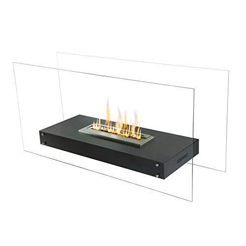 Great Price! Flame Ss Free Standing W/ 16″ Burner Black Modern Contemporary Stainless Steel Finish Includes Hardware