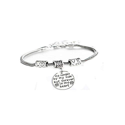 ZSDFW Pulsera para familias con letras pulseras ajustables para parejas, regalo para familias