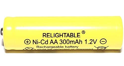 RELIGHTABLE 300mAh AA NiCd 1.2v Rechargeable Batteries Garden Solar Ni-Cd Light LED K (Pack of 20)