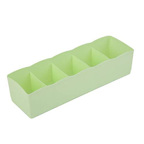 ukYukiko - Caja de almacenamiento multifunción con cinco rejillas, caja de plástico con acabado en cajón, escritorio, cama