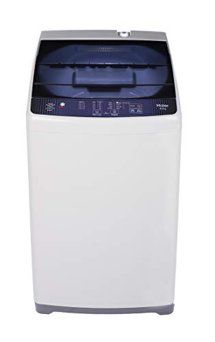 Haier 6.2 Kg Fully-Automatic Top Loading Washing Machine (HWM62-AE, White with Blue lid)
