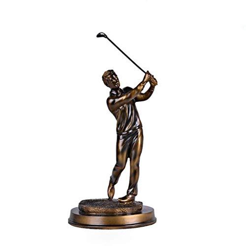 Zenguen Figurine de Golf, Sculpture Sportive Artisanale Décoration rétro pour Salon, Bureau,...