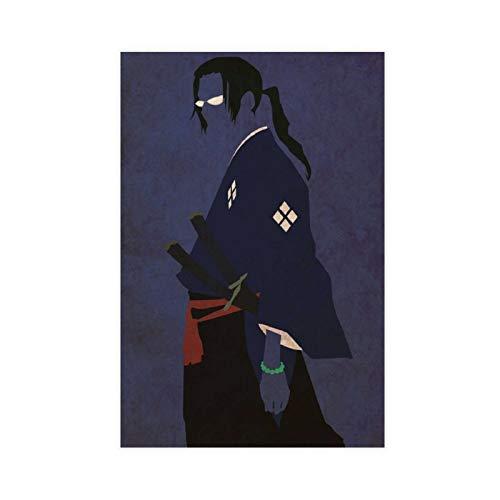 1 póster de anime poste Samurai Champloo Jin (1) lienzo para decoración de la pared de la sala de estar dormitorio decoración de 60 x 90 cm Unframe-anime poste Samurai Champloo Jin (1)1