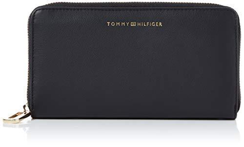 Tommy Hilfiger Damen Soft Turnlock Lrg Za Geldbörse, Schwarz (Black), 1x1x1 cm
