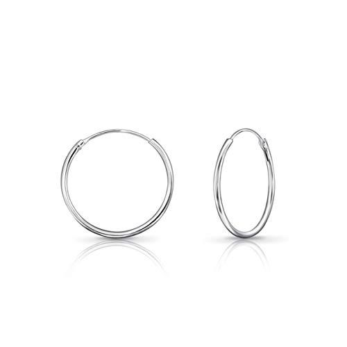 DTPsilver - Damen - Creolen - Ohrringe 925 Sterling Silber - Dicke 1.2 mm - Durchmesser 20 mm…