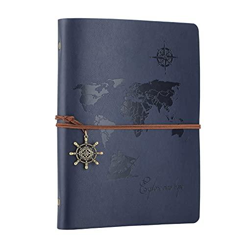 SEEALLDE Leder Notizbuch A5 Ringbuch Reisetagebuch