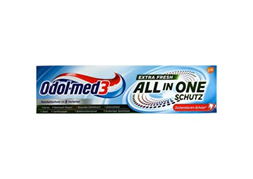 Odol-Med 3 Zahnpasta All in One Extra Frisch, 75 ml Zuckersäuren-Schutz