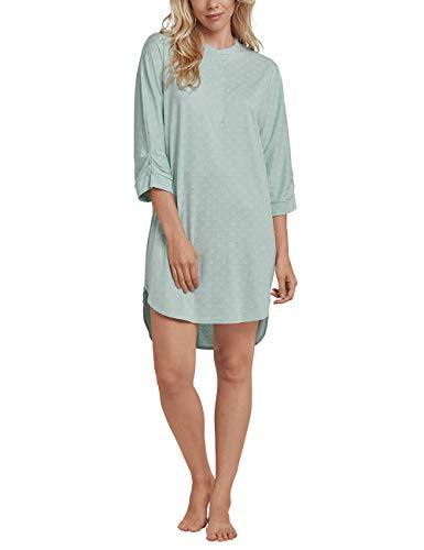 Schiesser Damen Sleepshirt 3/4 Arm, 95cm Nachthemd, Grün (Mint 708), 36