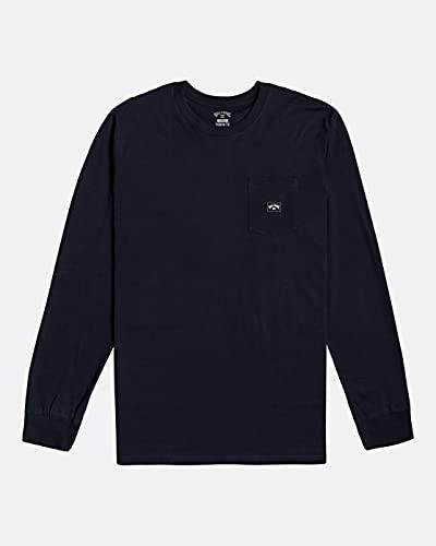 BILLABONG Stacked - Camiseta de Manga Larga para Hombre Camiseta de Manga Larga, Hombre, Navy, S