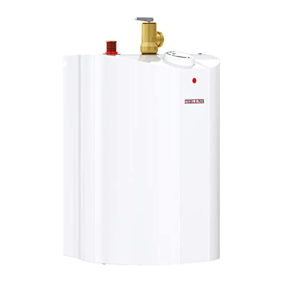 Stiebel Eltron 233219 2.5 gallon, 1300W, 120V SHC 2.5 Mini-Tank Electric Water Heater 8 Plugs into standard 120 volt outlet T and P valve included Wall-mounted with included bracket