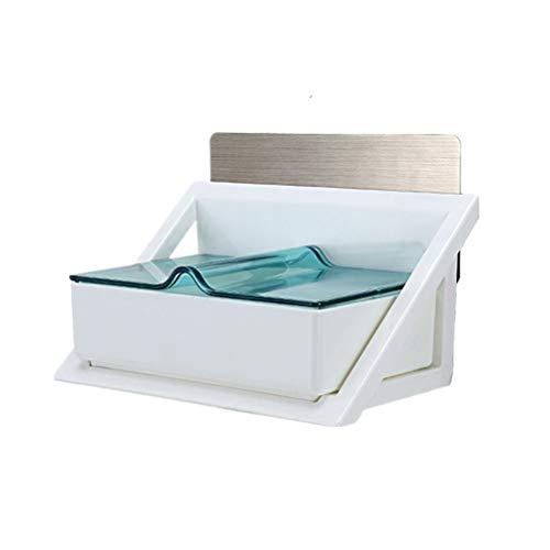 Topbathy - 1 pieza de joyas, soporte para vasos, contenedor para estantes, pared con agujeros para el hogar (color aleatorio)